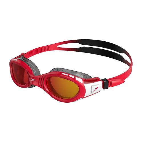 Speedo Futura Biofuse Flexiseal Mirror Junior Black Red