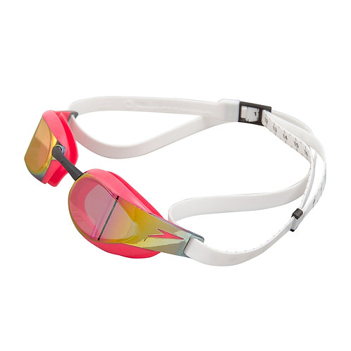 Speedo Fastskin Elite Mirror Goggle White Red