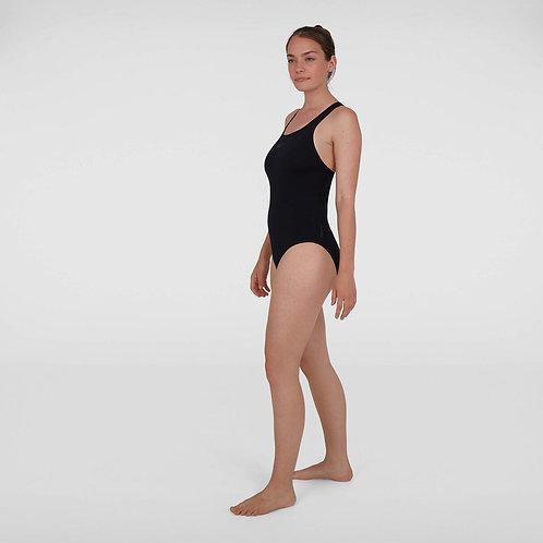 Speedo Womens Essential Endurance+ Medalist Swimsuit Black
