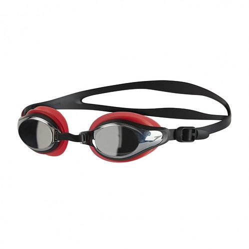 Speedo Mariner Supreme Mirror Goggle Red Silver
