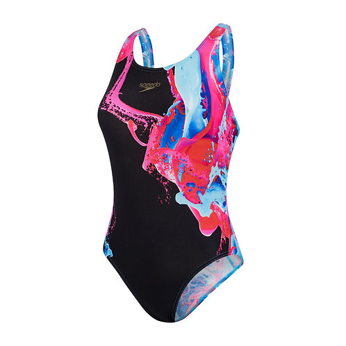 Speedo Colourflood Powerback Swimsuit