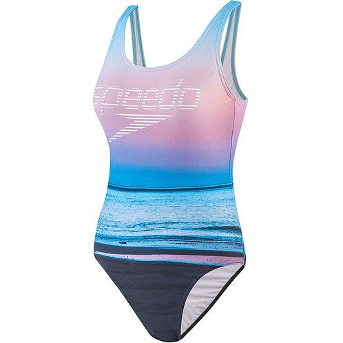 Speedo Summer Sunrise U-Back Swimsuit
