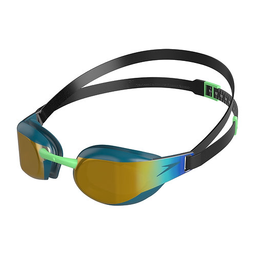 Speedo Fastskin Elite Mirror Goggle Green Gold