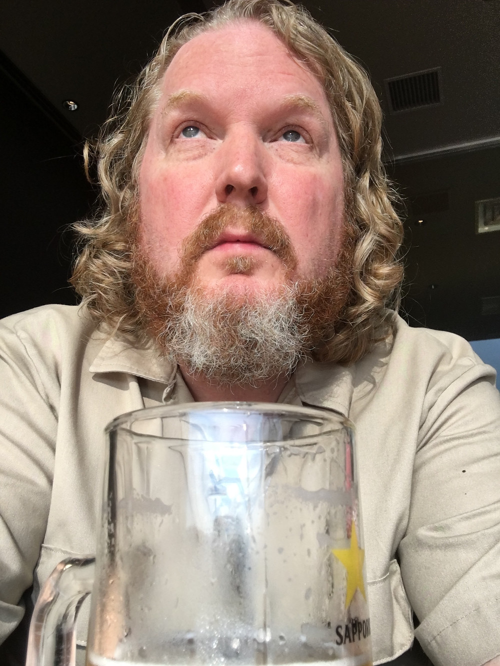 Tokyo Narita Airport - Alone with a large Sapporo beer