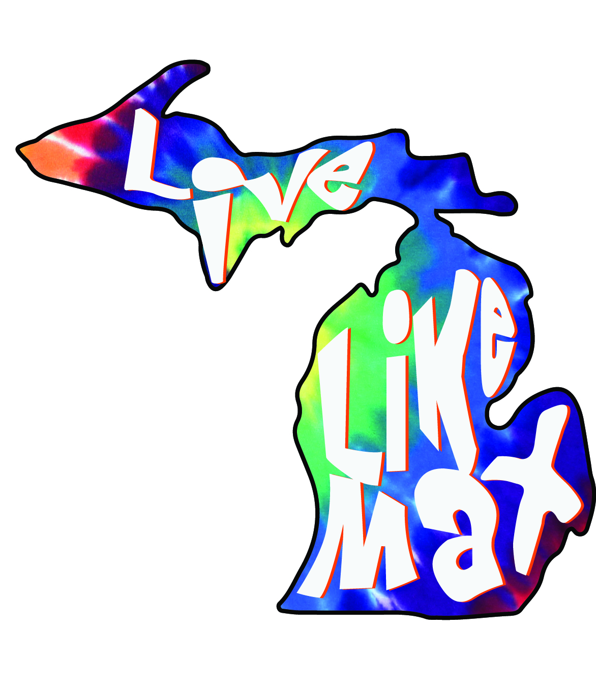 LiveLikeMax Michigan Sticker