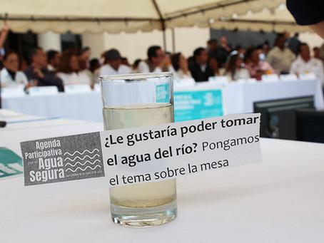 Cántaro Azul en el contexto de protestas para la protección de las fuentes de Agua en SCLC