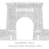 Roosevelt Arch - Yellowstone National Pa