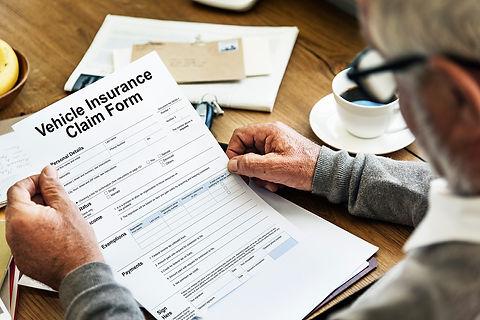 vehicle-car-insurance-claim-form-concept