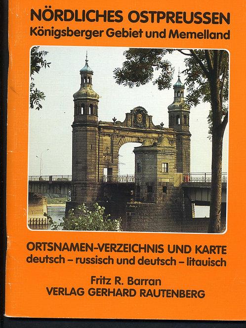 Fritz R. Barran EIN-ATLAS NORDLICHES OSTPREUSSEN