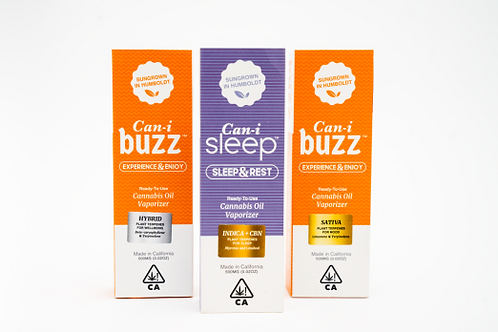 Can-i Sleep Indica & Buzz Sativa .5g Disposable Value Pack (4)
