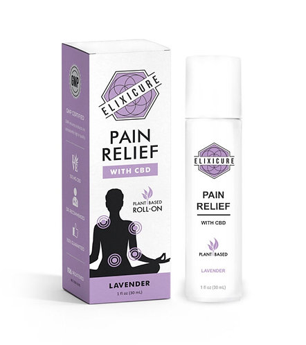 Elixicure CBD Pain Roll - On - Lavender