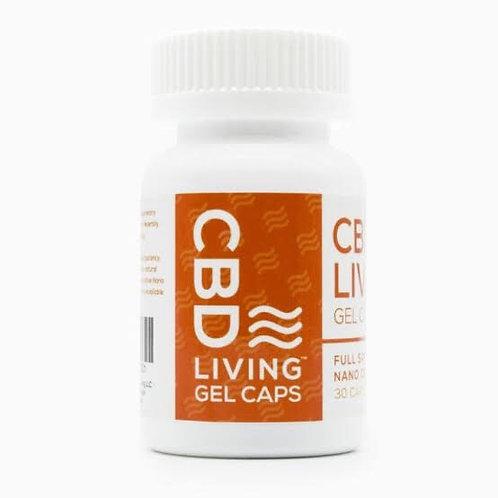 CBD Living Gel Capsules - 25mg P/ Capsule (30)