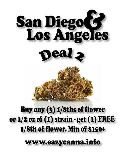Flower Deal: Buy (3) 1/8ths, Get (1) free