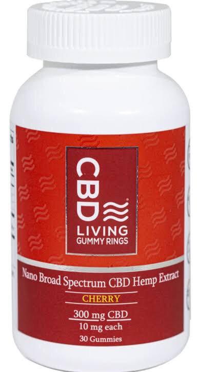CBD Living Gummy Rings - Cherry - 300mg CBD