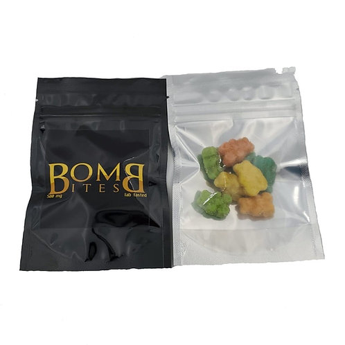 Bomb Bites Indica Gummy Bears - 500mg