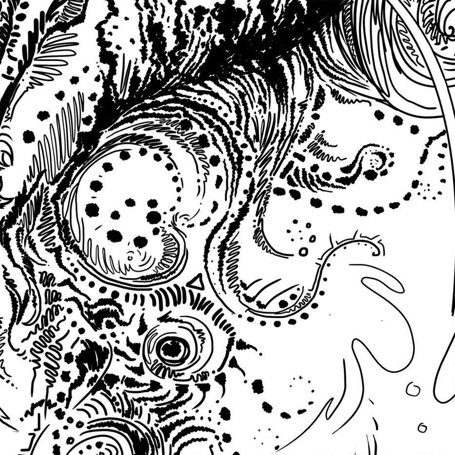 Chinese Dragon doodle detail