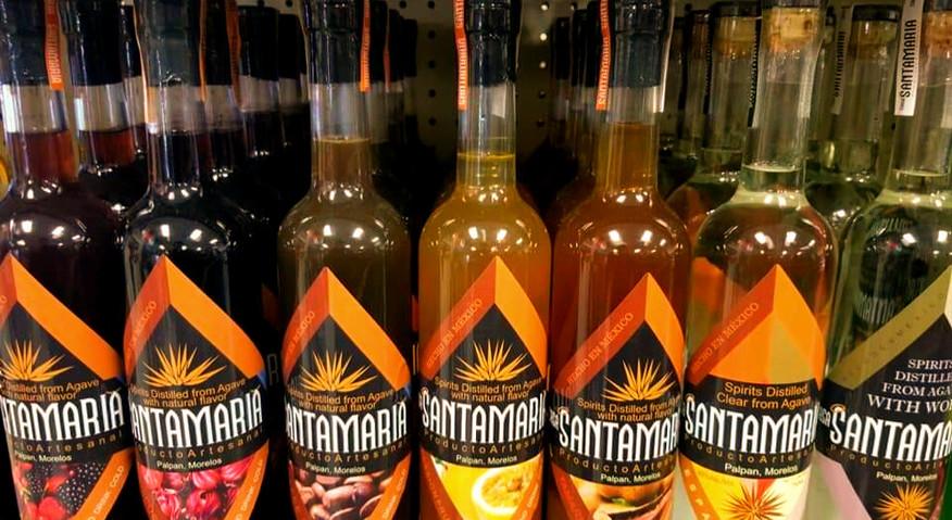 All Mexcal Santamaria Bottles