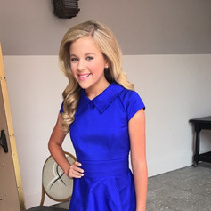 This electric blue silk shantung interview dress was amazing on this young lady.