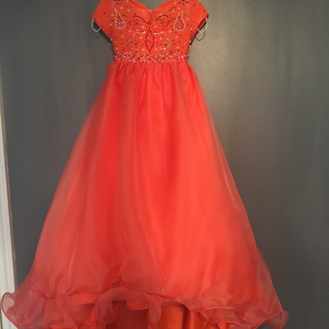 Girls Custom ball gown with train