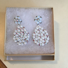 Custom earrings for a pageant gown.