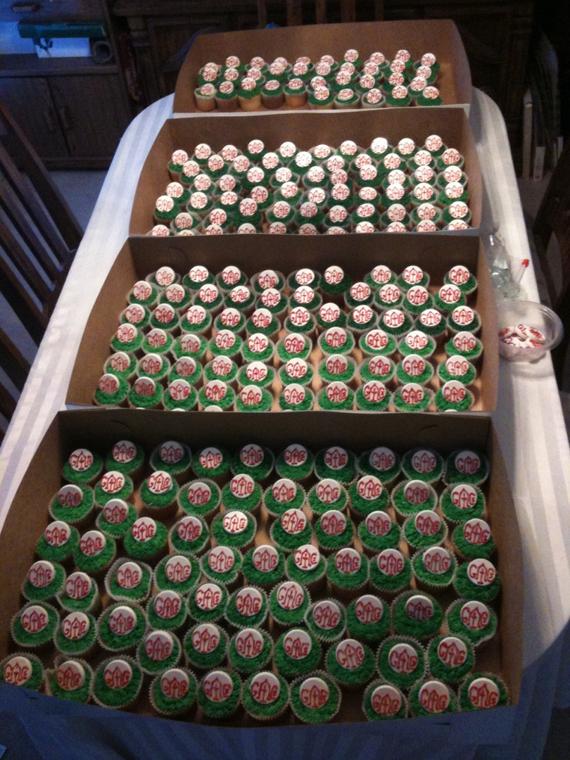 250 Turf cupcakes for dedication ceremony