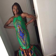 African block print custom designed prom dress