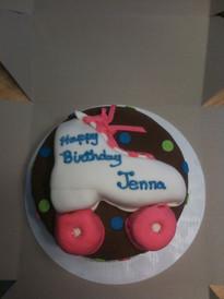 Roller Skate fondant cake for teen birthday