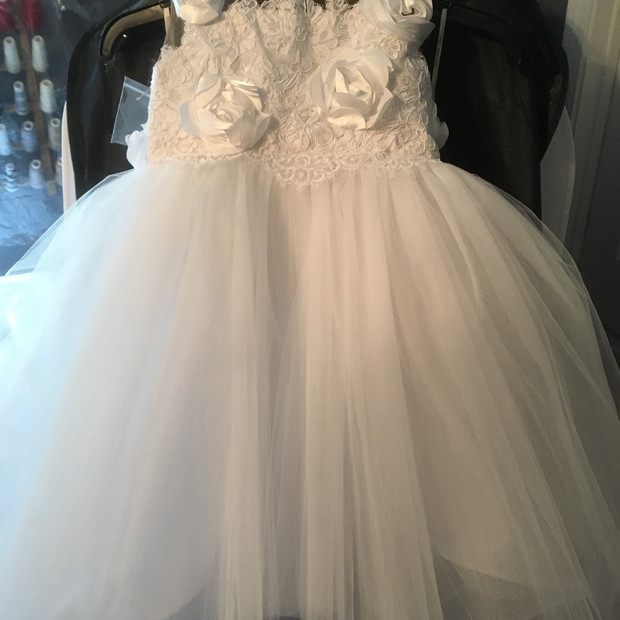 custom flowergirl dress