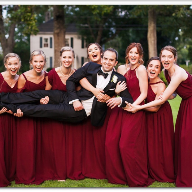 What better way to show your individual style than to have each bridesmaid choose her own style that compliments her.