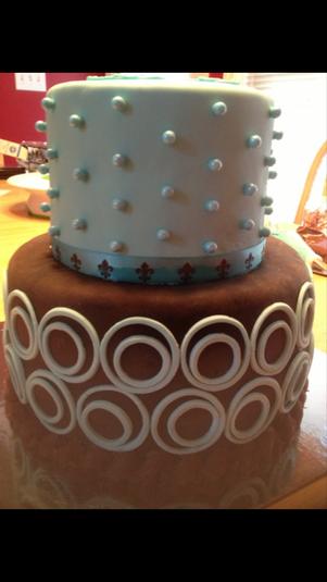 Chocolate and aqua teen birthday cake