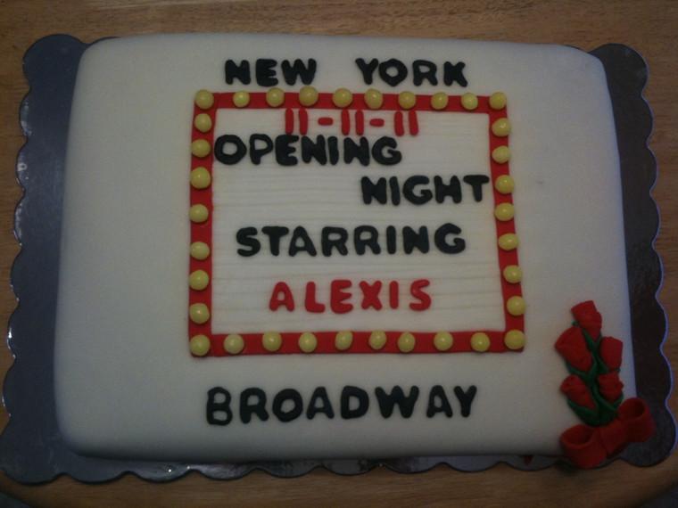 Fondant cake for birthday