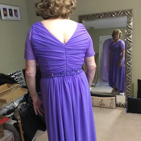 Custom periwinkle dress
