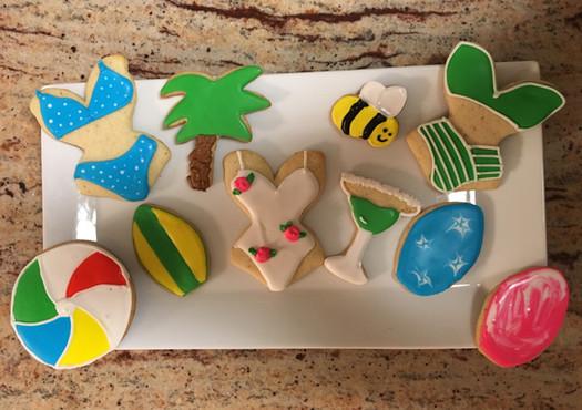Fun Summer themed cookies