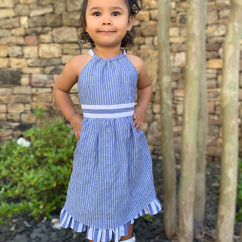 Spring is here!  Super soft cotton striped dress available on the site foxcubwear.com