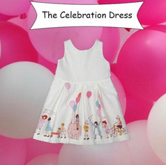 Need to celebrate anything?  Do it in this adorable flannel cotten fully lined Celebration dress designed for Foxcubwear.com