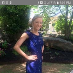Custom Royal blue lace prom dress.