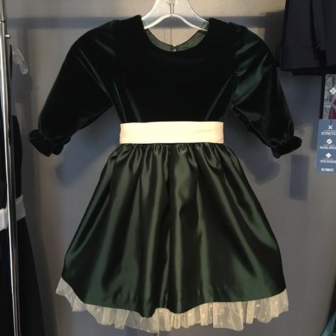 Velvet custom dress