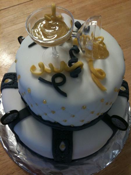 Happy New Year's fondant cake