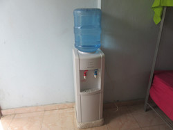 Bottled drinking water for guests