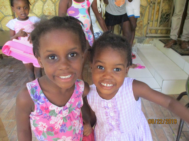 Two girls at the Children's Home
