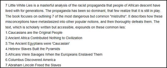 Seven Little White Lies -- List.png