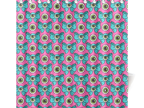 Eyeball Bow Shower Curtain
