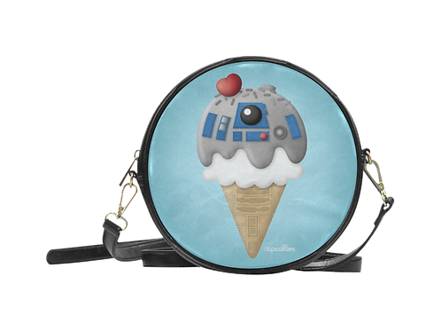 Droid Ice Cream Round Sling Bag