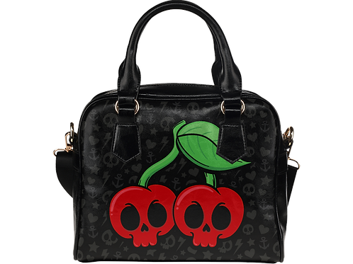 Skull Cherry Shoulder Bag