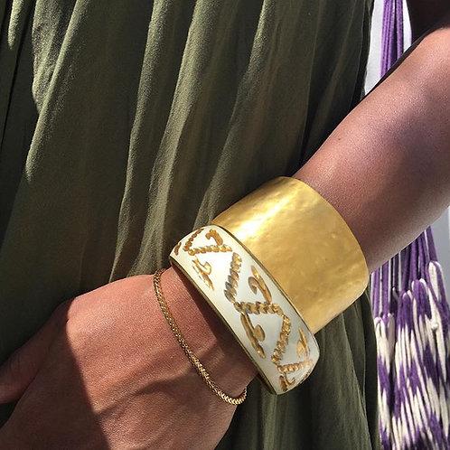 Kenneth J Lane Brushed Gold Cuff Bracelet