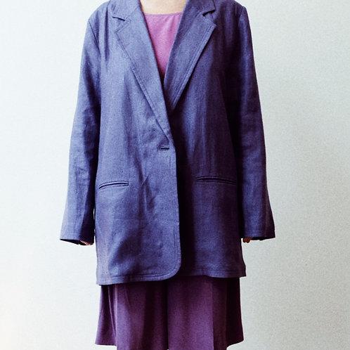 purple linen blazer