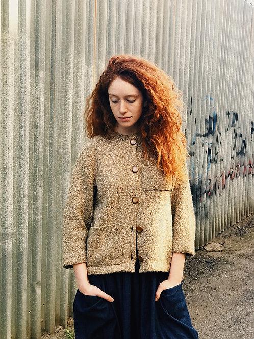 Brown Knit Cardigen