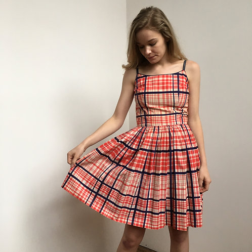 1950's Americana Plaid Dress