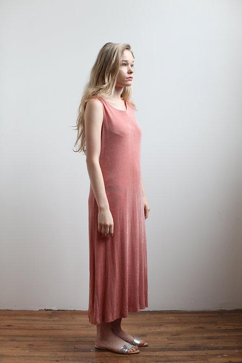 Relaxed Rose Sleveless Dress