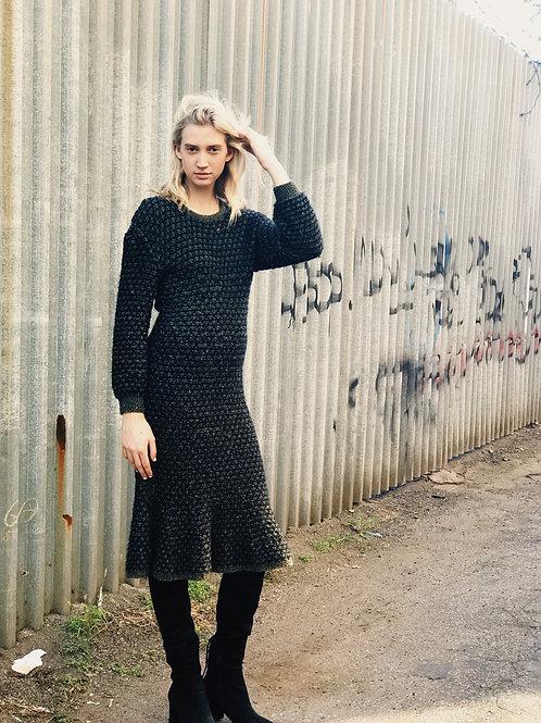 Navy Knit Sweaterdress